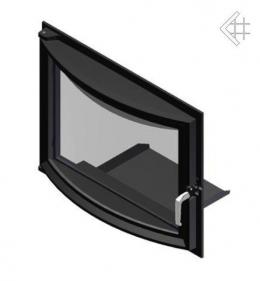 Панорамные дверцы для камина  Zuzia 515x652 мм