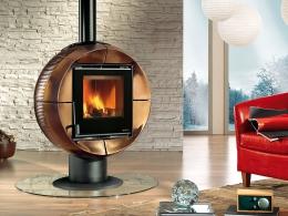Печь-камин Nordica Fireball Oro Craquele